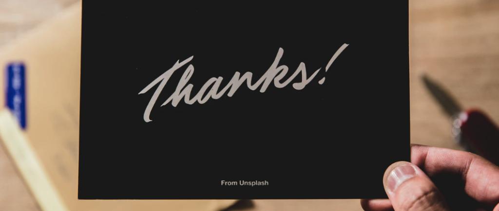 恋人や友人、後輩に使う感謝の言葉