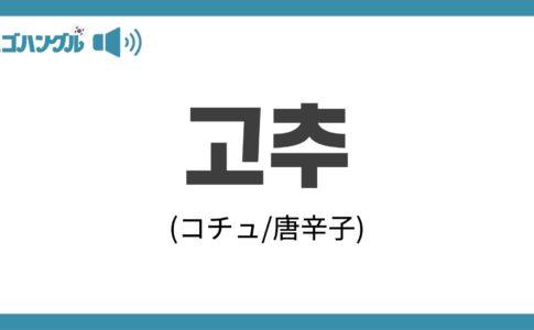 韓国語で「唐辛子」を表す「고추(コチュ)」について優しく解説