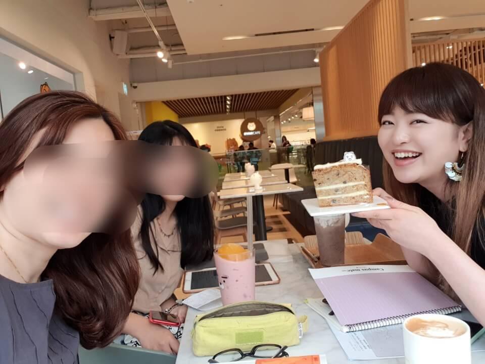 西江大学留学①カフェで勉強